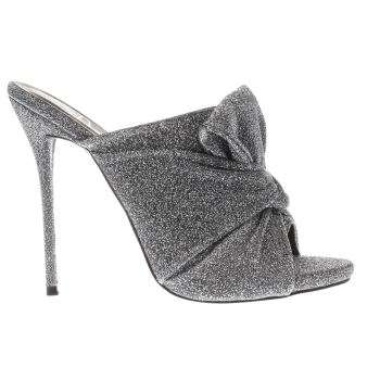 Missguided Silver Knotted Front Mule Womens High Heels