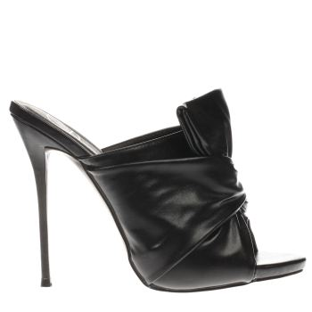 Missguided Black Knotted Front Mule High Heels
