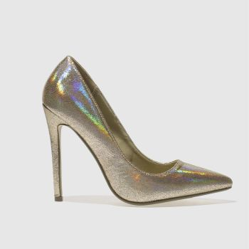 Missguided Gold Metallic Point Womens High Heels
