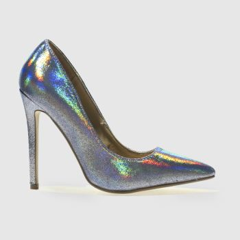 Missguided Blue METALLIC POINT High Heels