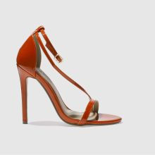 Missguided Burnt Orange Asymmetric Strappy Womens High Heels