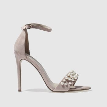 Missguided Pink Pearl Strap Barely Womens High Heels
