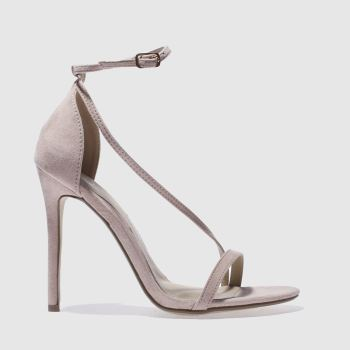 Missguided Natural Asymmetric Strappy Womens High Heels
