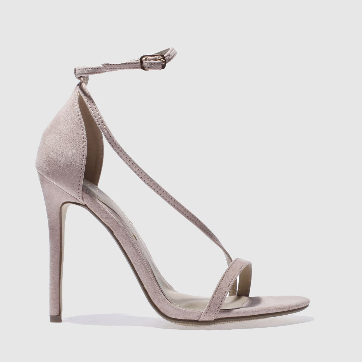 Missguided Natural Asymmetric Strappy High Heels