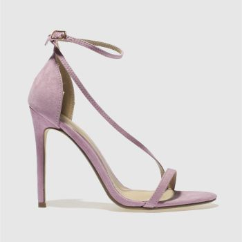 Missguided Lilac Asymmetric Strappy Womens High Heels