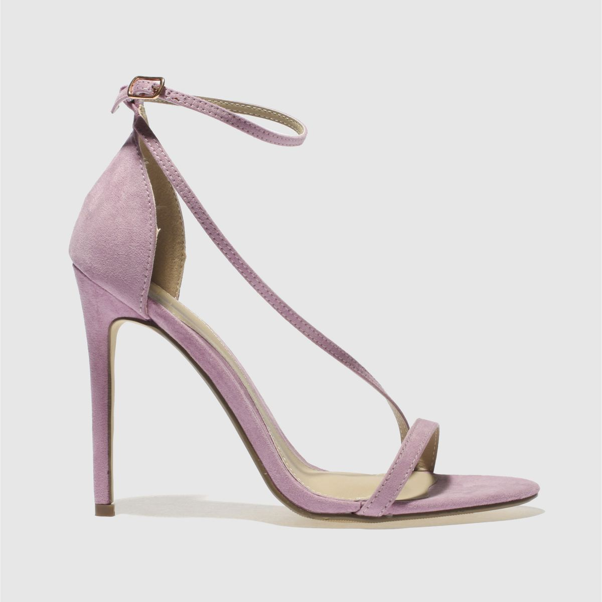 Missguided Lilac Asymmetric Strappy High Heels