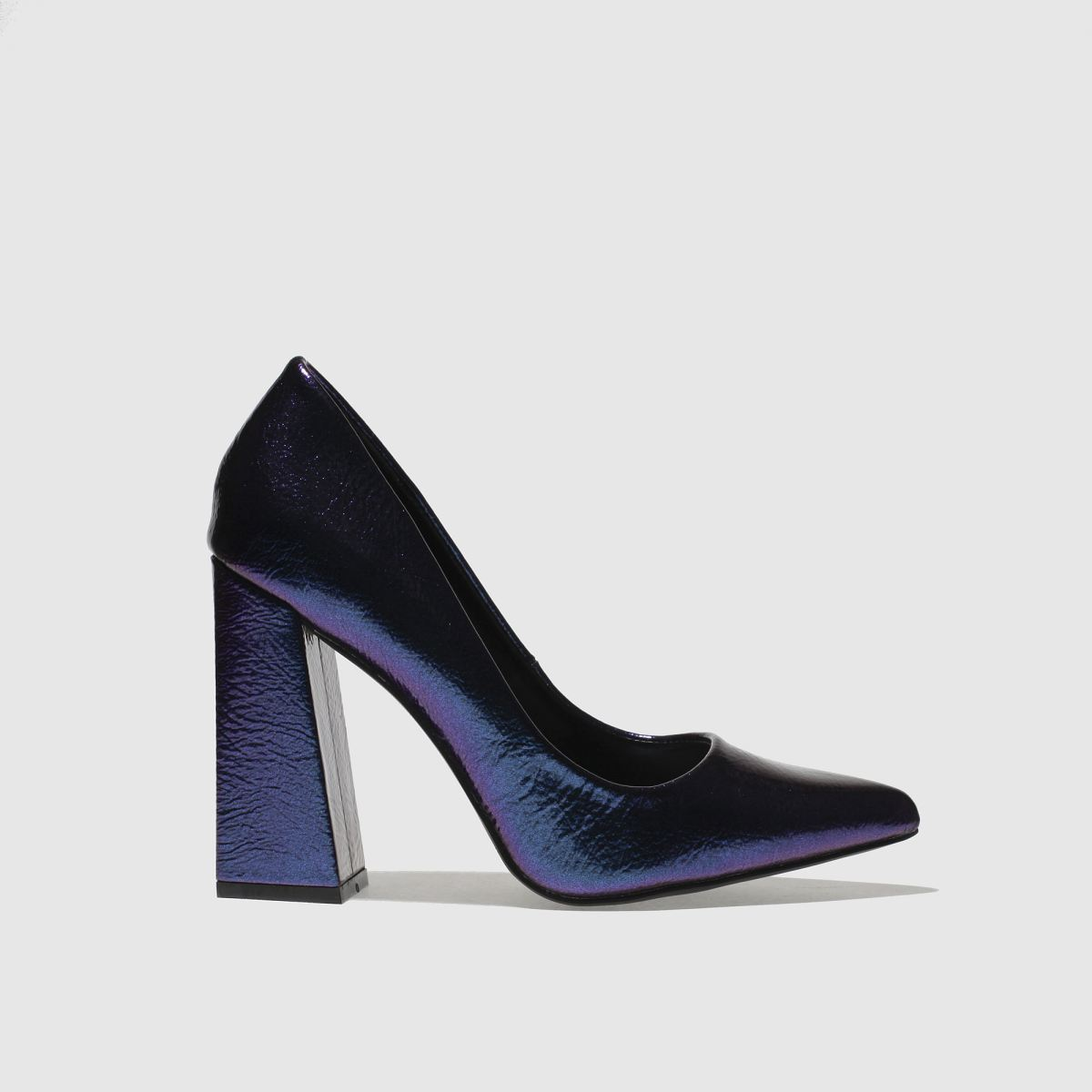 missguided Missguided Blue Flared Point Heel High Heels