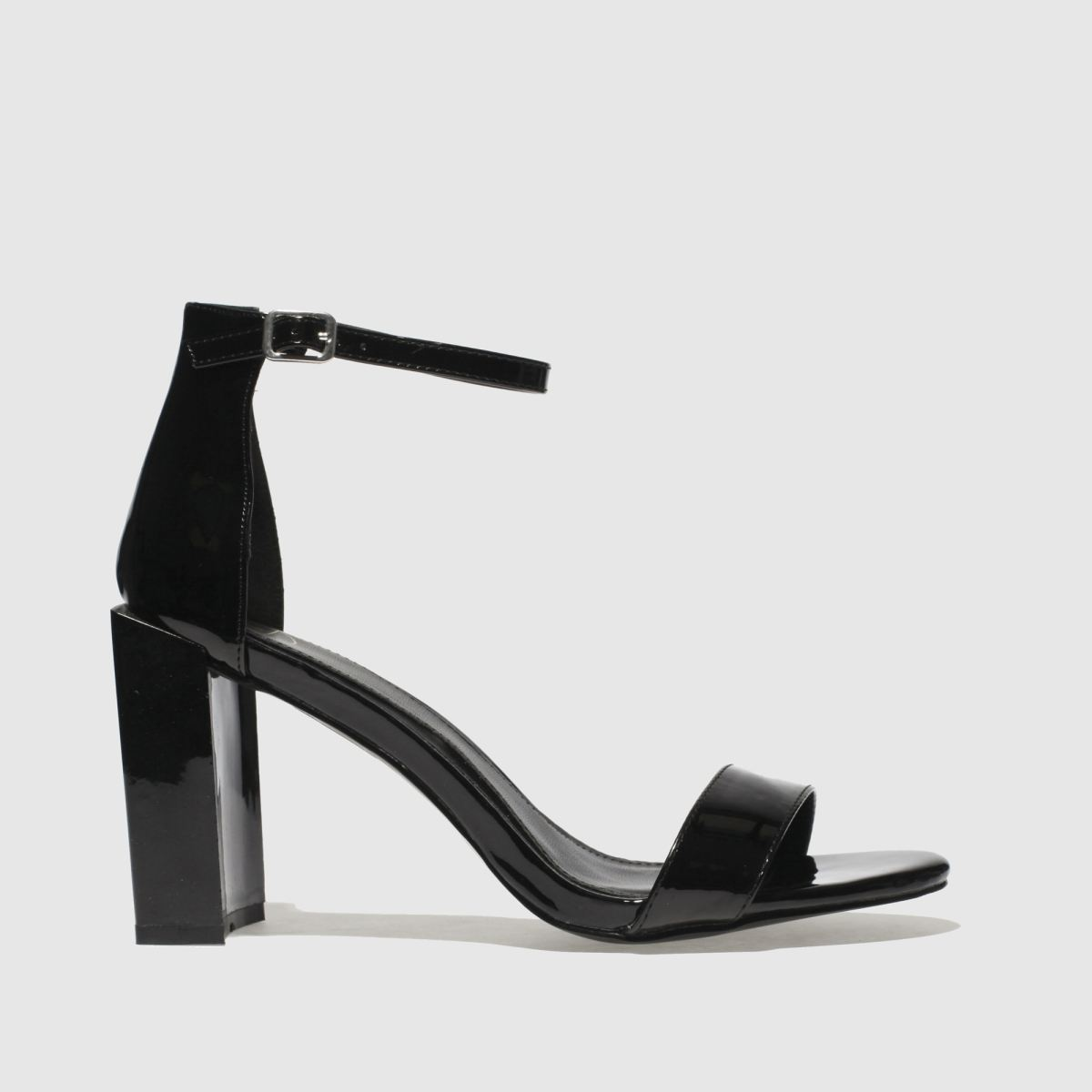 missguided Missguided Black Feature Block Heel High Heels
