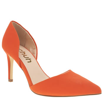 Womens Schuh Orange Magnetic Low Heels
