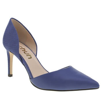 Womens Schuh Blue Magnetic Low Heels