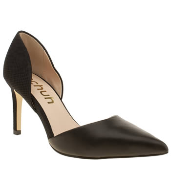 Womens Schuh Black Magnetic Low Heels