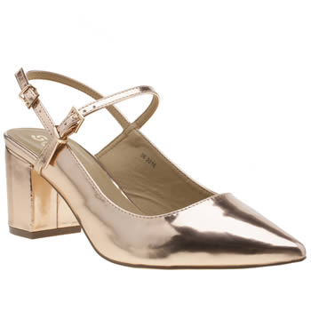 Schuh Rose Gold Annie Womens Low Heels