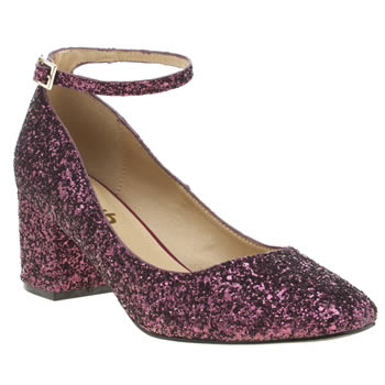 Schuh Burgundy Temple Womens Low Heels