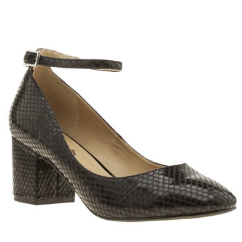 Schuh Black Temple Womens Low Heels
