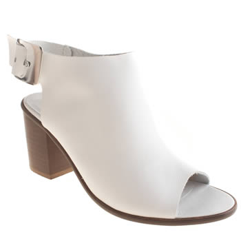 Womens Schuh White Lola Low Heels