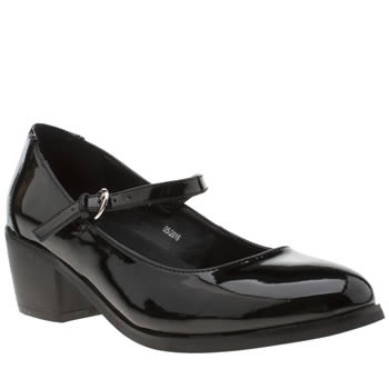 SCHUH BLACK METAPHOR LOW HEELS