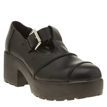 Schuh Black Chemistry Womens Low Heels