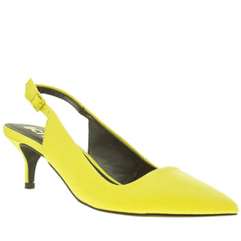 Womens Schuh Yellow Home Coming Low Heels