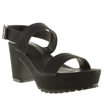 Womens Schuh Black Road Trip Low Heels
