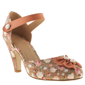 womens schuh peach tap dance low heels