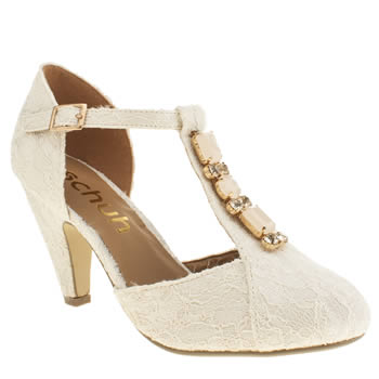 Womens Schuh Stone Art Deco Low Heels