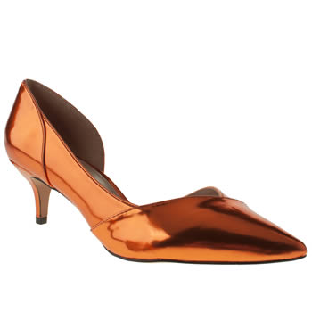 womens schuh orange viper low heels