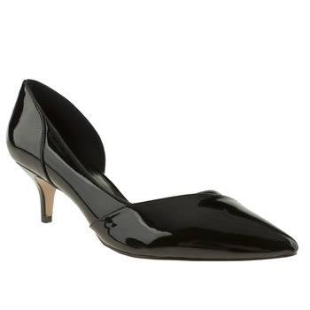 womens schuh black viper low heels