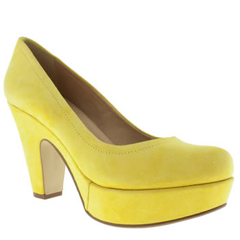 womens schuh yellow sweet talk low heels