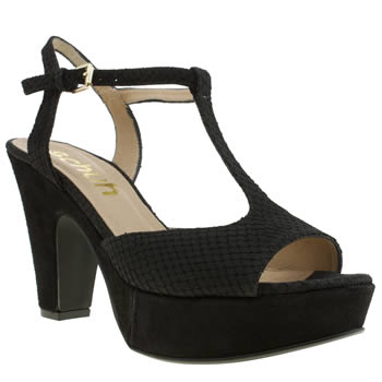 Womens Schuh Black Blush Low Heels