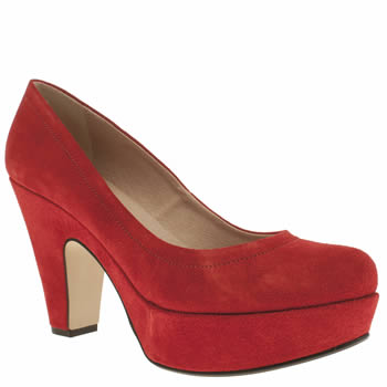 Womens Schuh Red Sweet Talk Low Heels