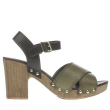 Schuh Khaki Chicago Womens Low Heels