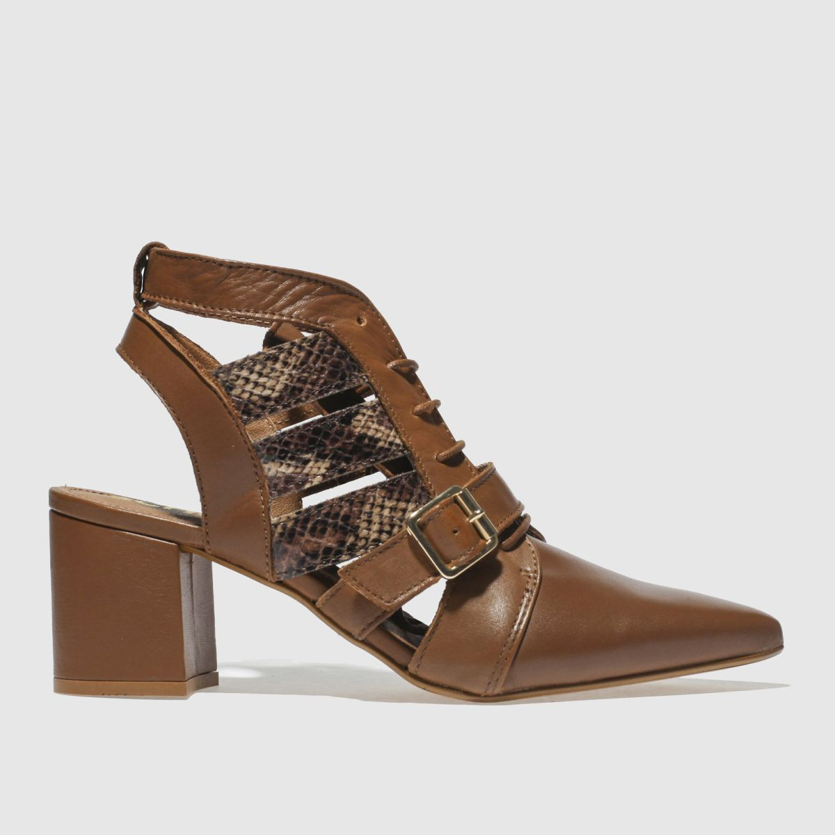 Schuh Tan Driven Low Heels