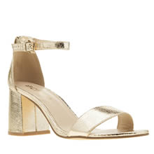Schuh Gold Belle Womens Low Heels