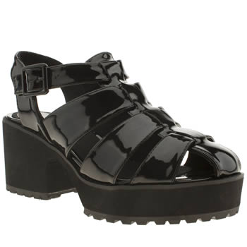 womens schuh black mello jello low heels