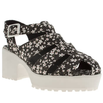 Schuh Black & White Mello Jello Low Heels