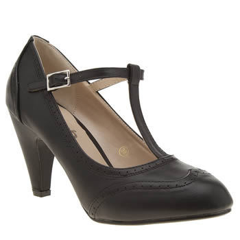 Schuh Black Static Womens Low Heels