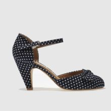 Schuh Navy Salsa Lovehearts Womens Low Heels