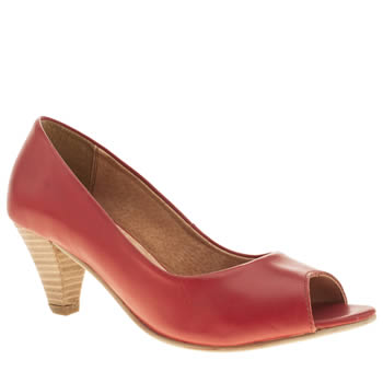 womens schuh red honeycomb low heels