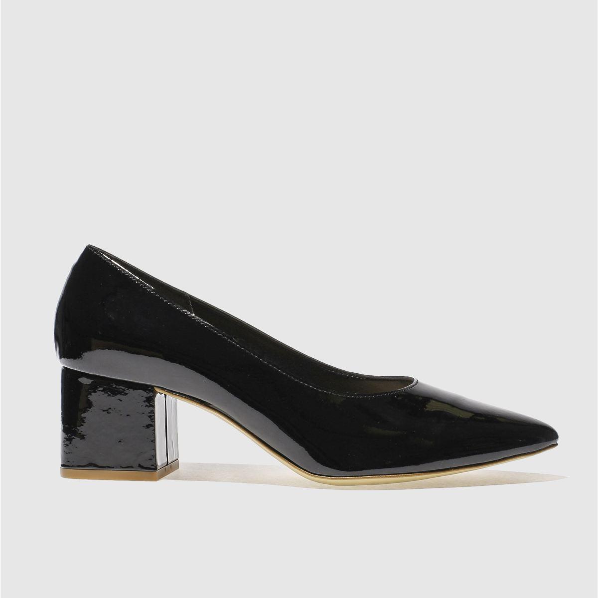 Schuh Black Shimmy Low Heels