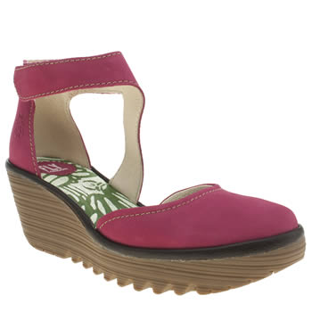 Womens Fly London Pink Yiat Low Heels