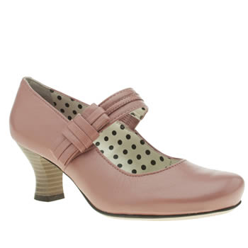 Womens Hush Puppies Pale Pink Philippa Bow Low Heels