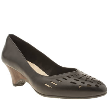 Hush Puppies Black Liberty Valentine Low Heels