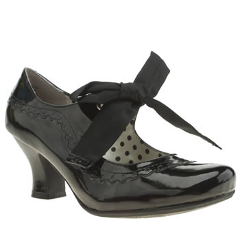 Womens Hush Puppies Black Noella Patent Low Heels