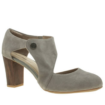 Hush Puppies Grey Devynn Sisany Womens Low Heels