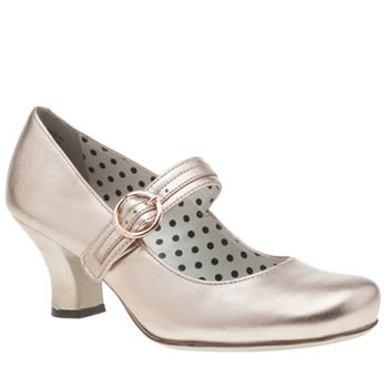 Hush Puppies Rose Gold Philippa Buckle Low Heels