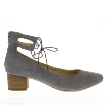 HUSH PUPPIES GREY NOELY DISCOVER LOW HEELS