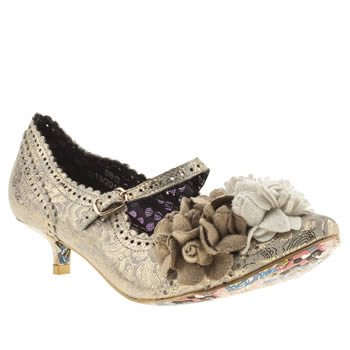 Womens Irregular Choice Stone Miss Low Paisley Floral Low Heels