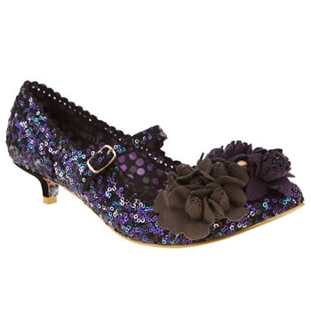 womens irregular choice multi miss low sequins low heels
