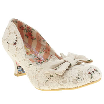 Womens Irregular Choice Stone Fancy That Crochet Low Heels