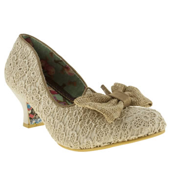 womens irregular choice natural fancy free bow court low heels